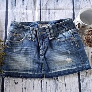 Aeropostale distressed jean skirt size 1/2